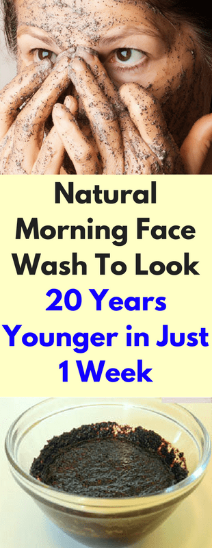 Natural Morning Face Wash To Look 20 Years Younger In Just 1 Week!!!  #beautytips  #fitness