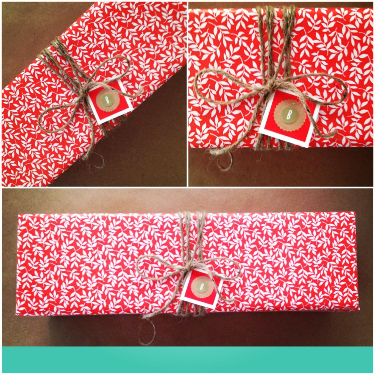 Floral gift wrapping paper brand nicole miller wrapped by