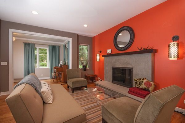 Color Schemes For Living Room With Brown Furniture | ... Color Paint  Accents Decorating