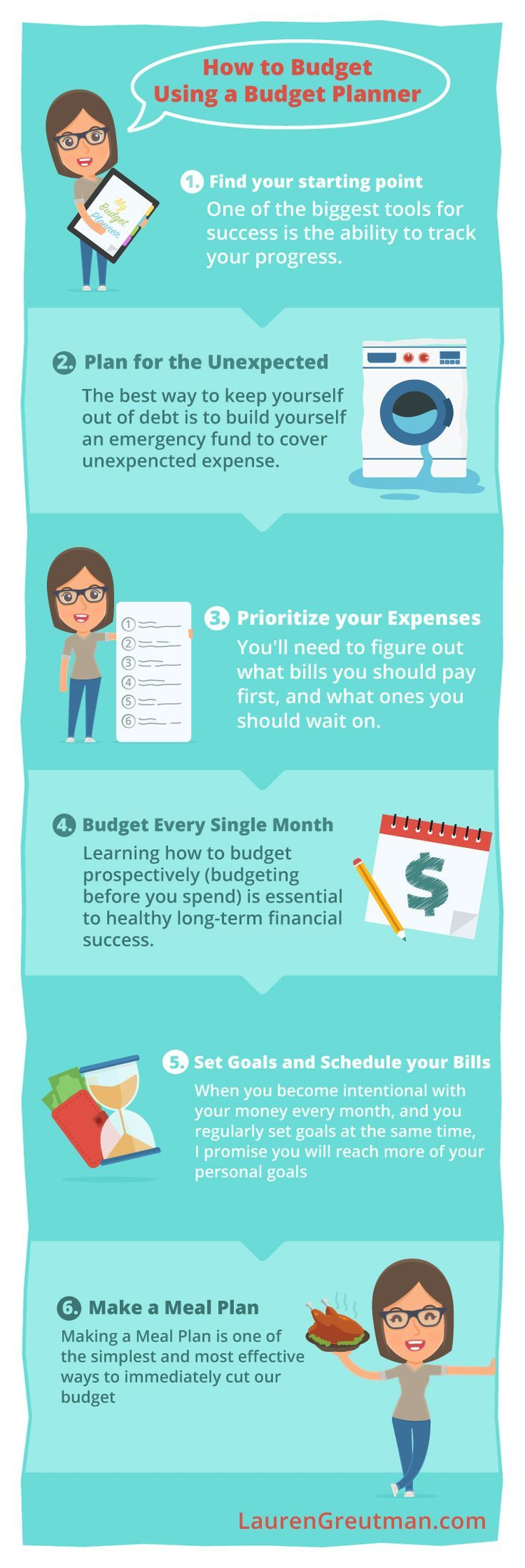 How To Budget Using A Planner  Budgeting Planners And Frugal
