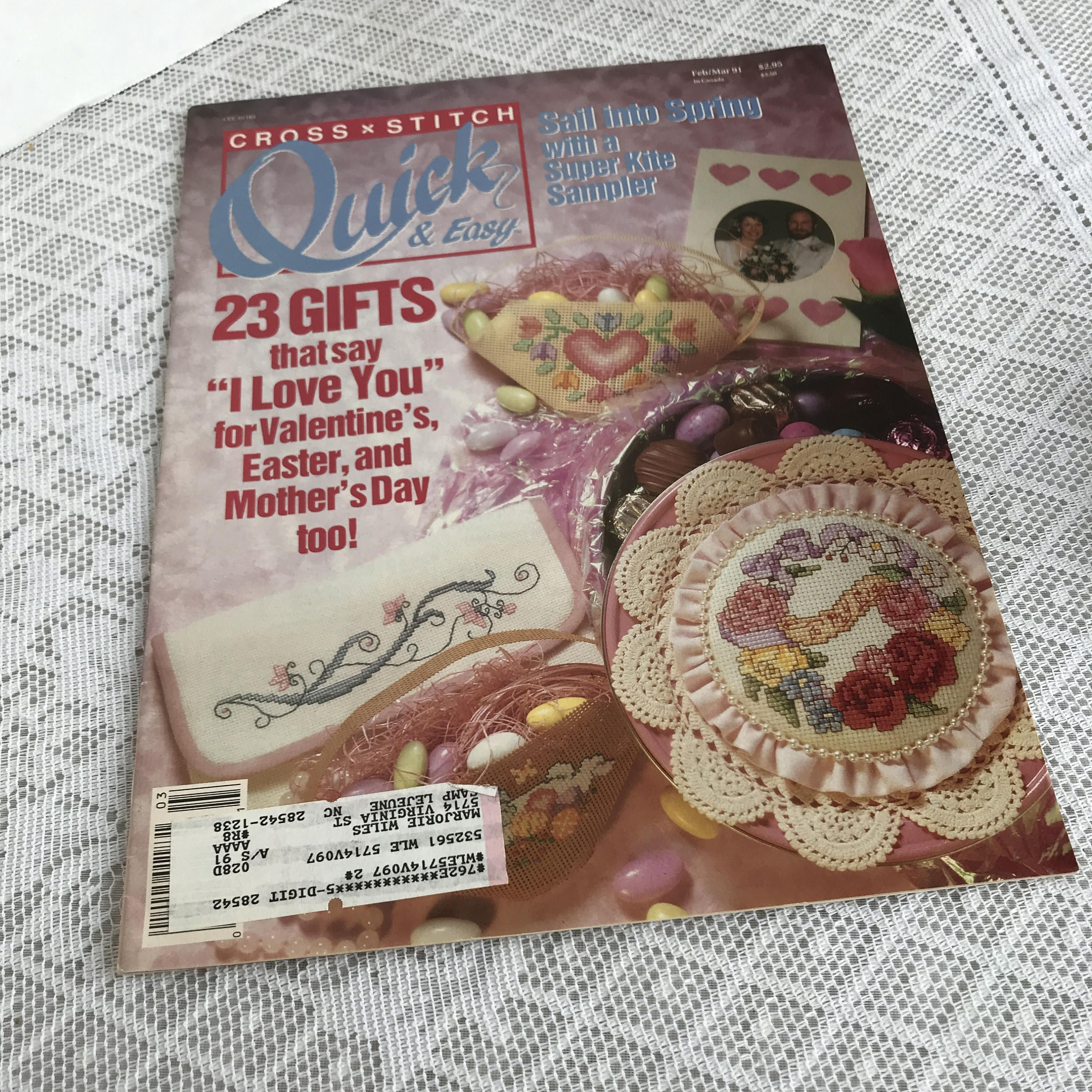 Vintage cross stitch quick and easy magazine embroidery patterns