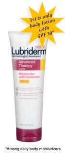lubriderm advanced therapy spf 30 moisturizing lotion