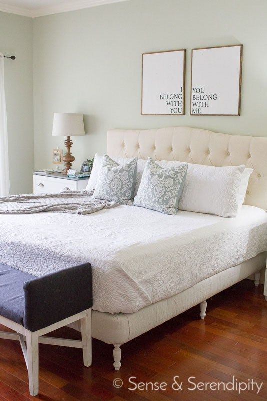 DIY Upholstered Platform Bed | Upholstered platform bed, Platform ...