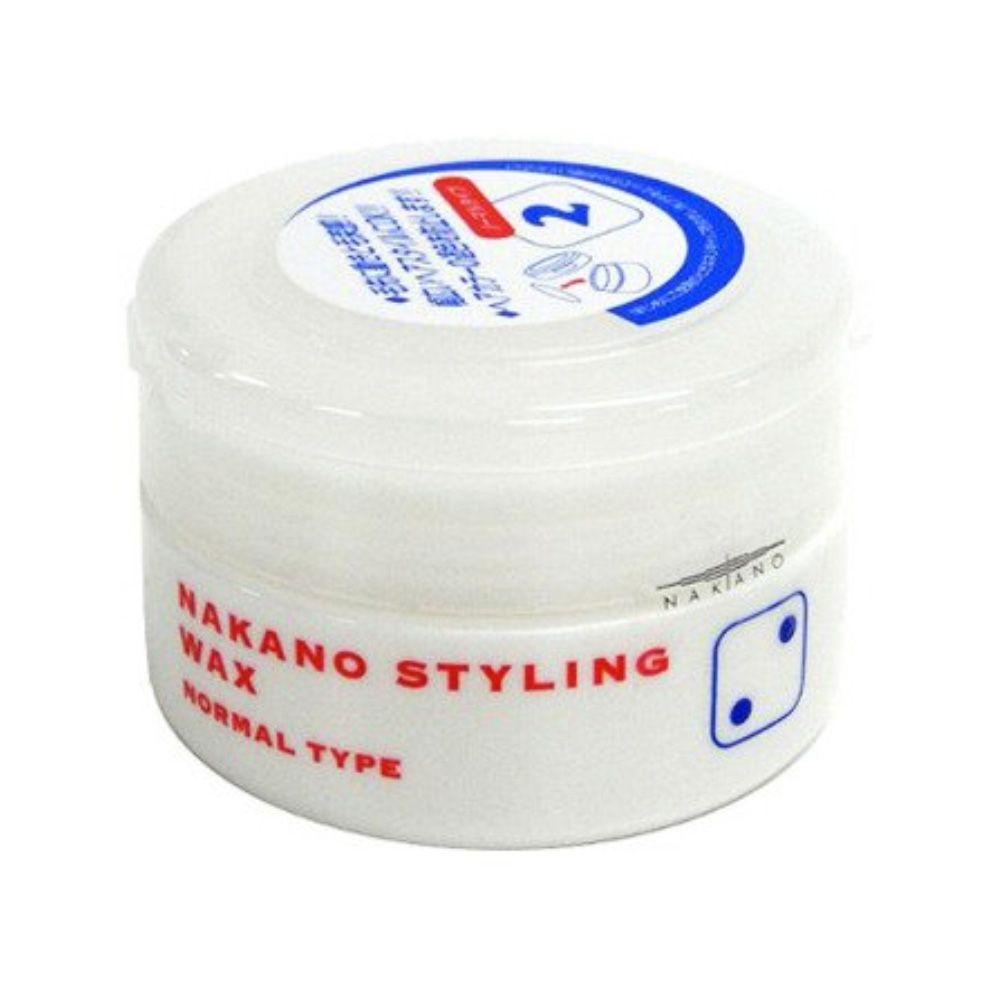 Nakano Styling Wax Series has seven line-ups and Nakano Styling Wax 2 is a normal type, suitable for all types of hairstyles. Nakano wax is widely popular in Japan, offering three brands with 29 kinds of waxes. It also has UV protection and moisturizing effect.  Producer: Nakano Country of manufacturing: Japan Weight: 90g Hold: Normal type