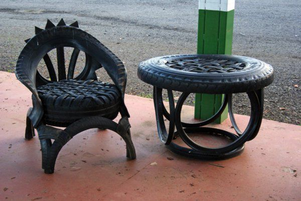 100 diy m bel aus autoreifen altreifen recycling car tire upcyceling pinterest. Black Bedroom Furniture Sets. Home Design Ideas