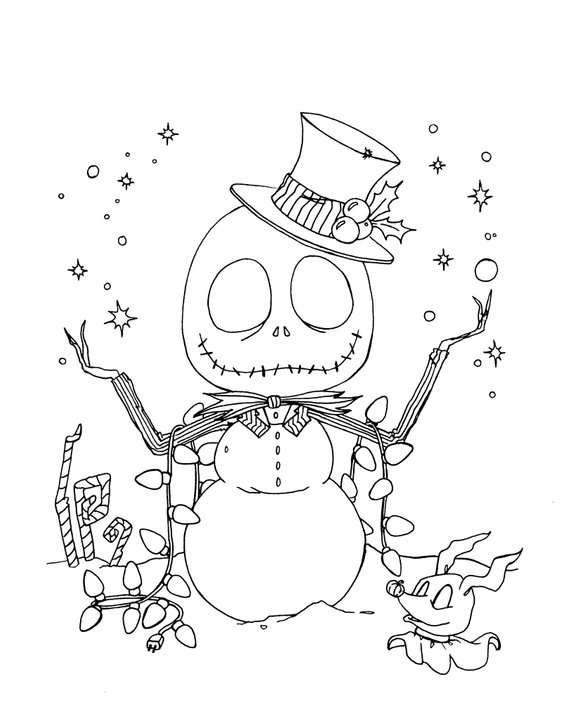 Nightmare Before Christmas Jack Skellington Snowman Svg Christmas Coloring Sheets Coloring Pages Christmas Coloring Pages