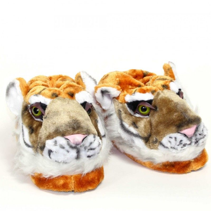 95a3b0fce09fe Chaussons animaux Tigre en 2019