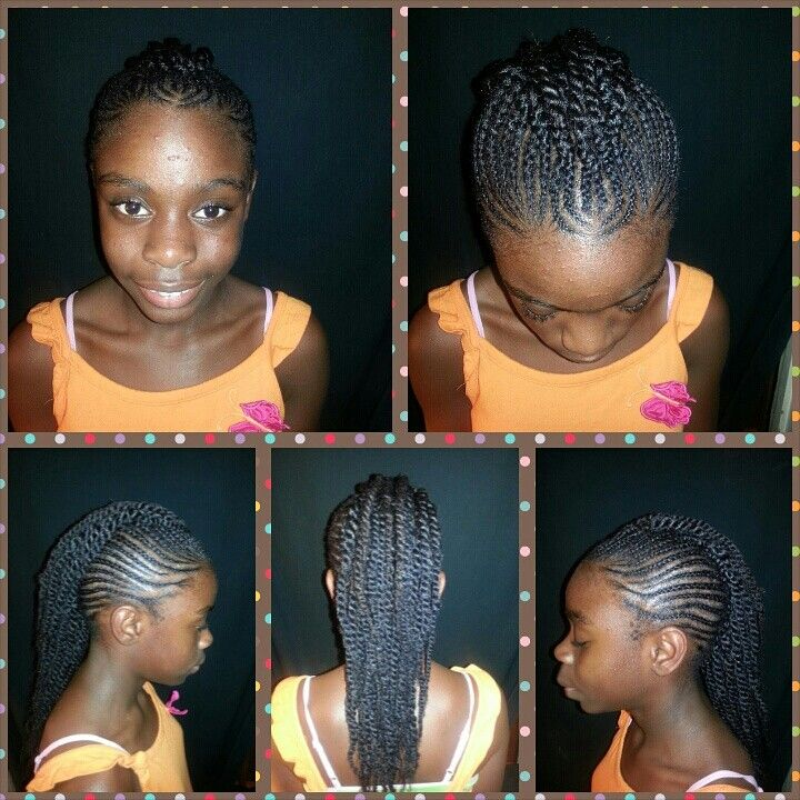 Cornrows And Twist Protective Hairstyles Relaxed Hair Cornrows