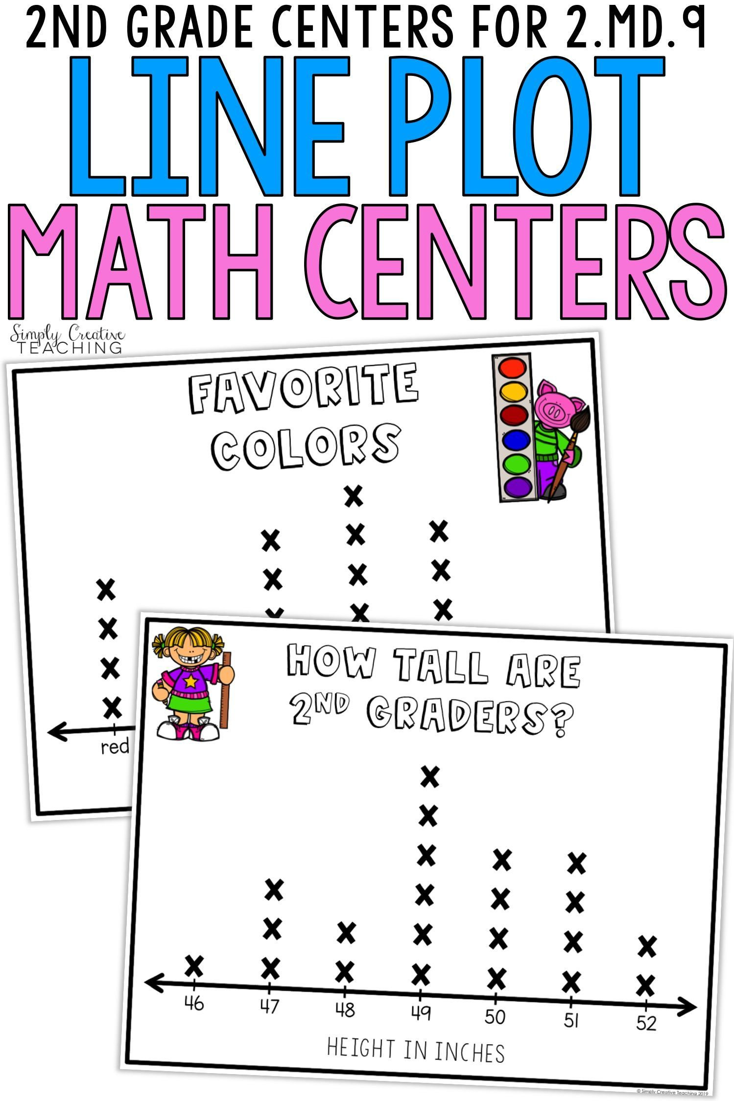 2nd Grade Line Plot Centers For 2 9
