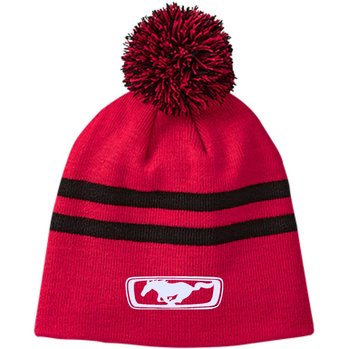 Mustang TT122 Team 365 Striped Pom Beanie