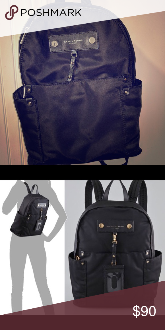 Marc Jacobs backpack Marc Jacobs preppy nylon backpack Black Marc Jacobs Bags  Backpacks 056401af65
