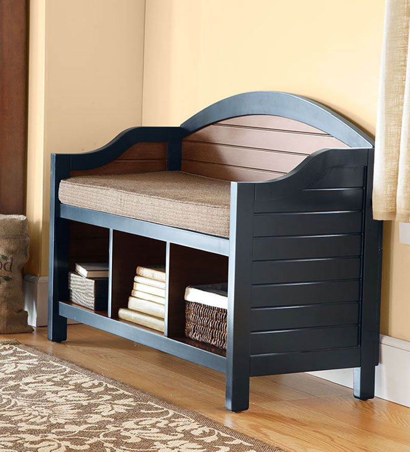 Storage Benches For Halls Part - 41: Shaker Style Wooden Hall Bench And Optional Corded Cushion #shopcoffeetable