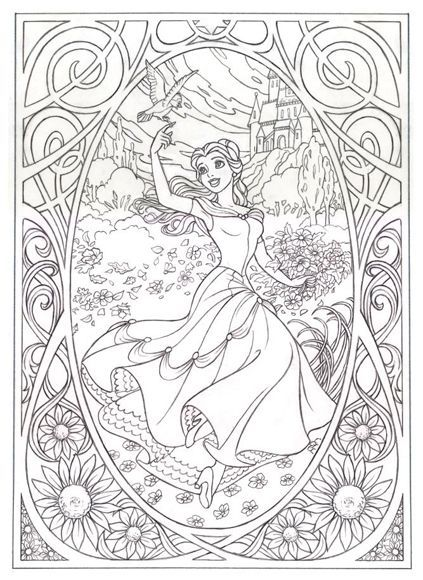 Coloringsco Disney Adult Coloring Pages