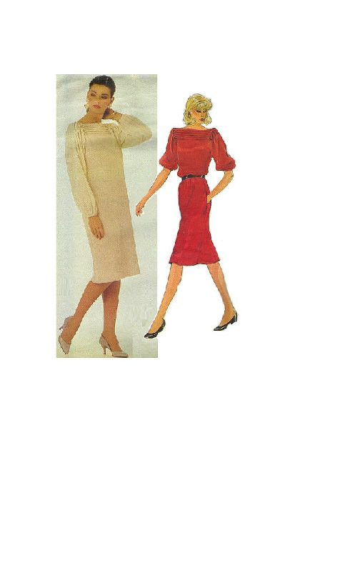 Vogue 2747 Sewing Pattern 80s American Designer Geoffrey Beene New ...