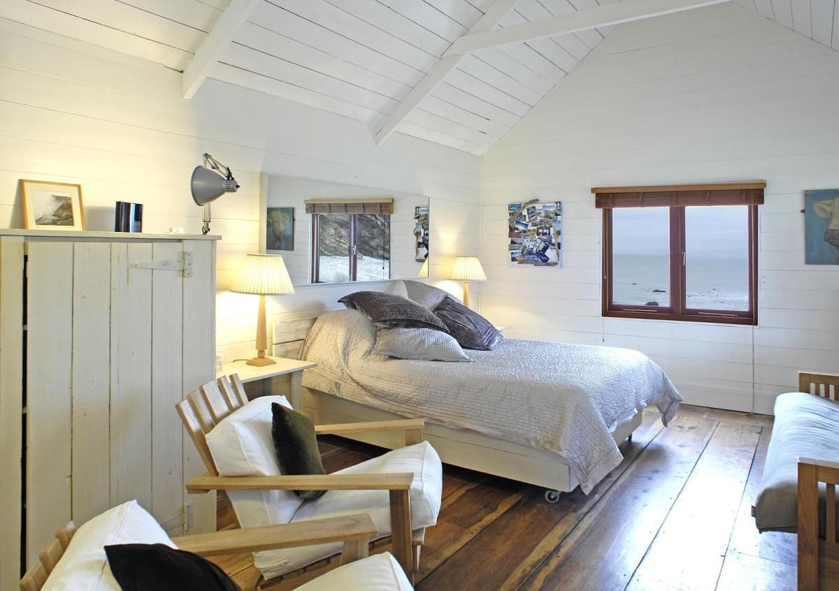 Tiny beach cottage inside decor the beach hut a romantic retreat in cornwall small house bliss