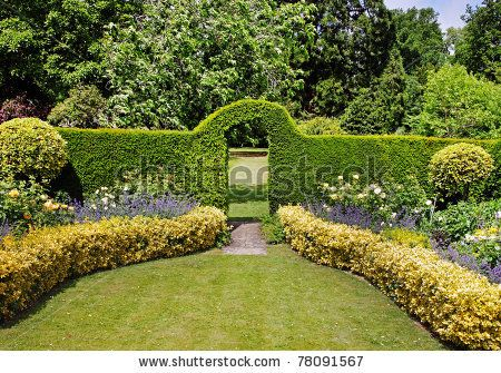English Garden Landscape An English Landscape Garden In Early