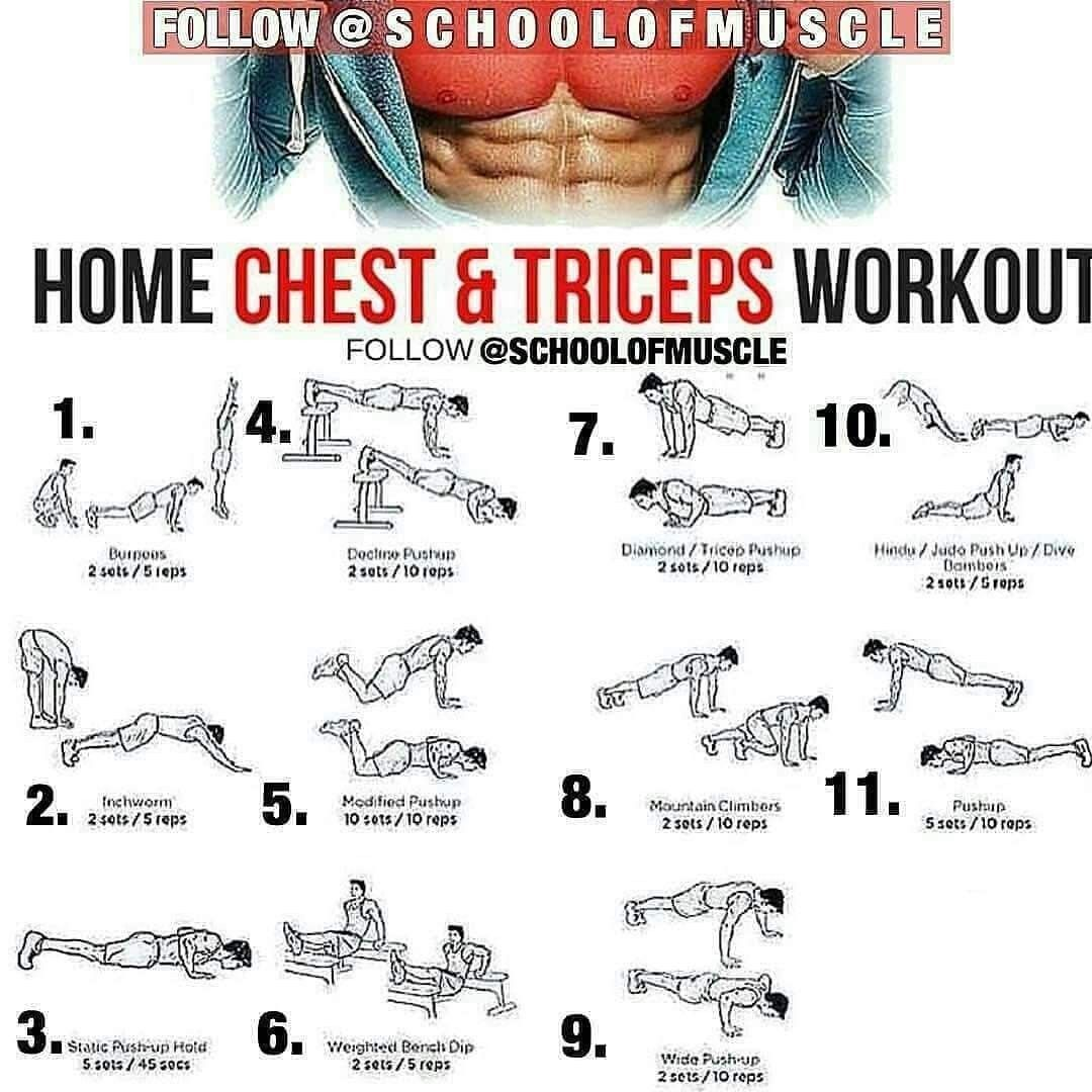 chest n triceps workout - 736×736