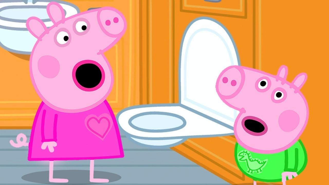 Peppa Pig Official Channel Peppa Pig 039 S First Long Train Journey Experience Peppa Pig Funny Peppa Pig Memes Pig Memes