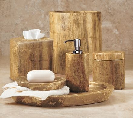 Petrified Wood Bathroom Accessories