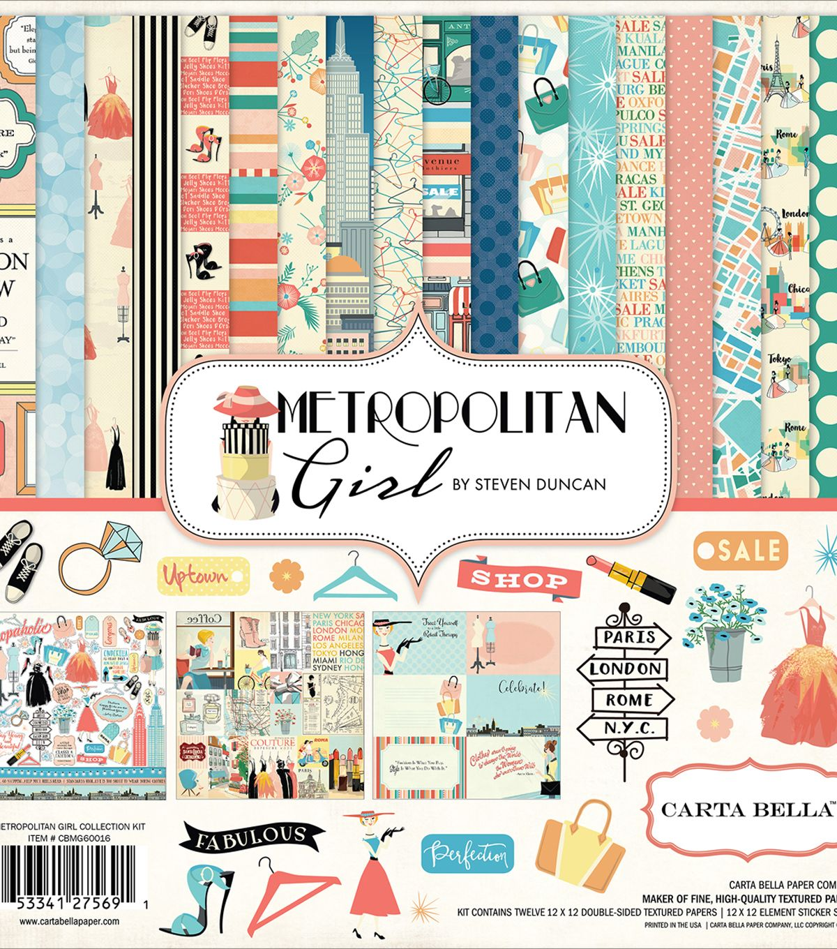 /& 12 x 12 Coordinating Sticker Sheet Two Souls 12 x 12 Scrapbook Paper Pack by Kaisercraft 12 Papers 2 of each design