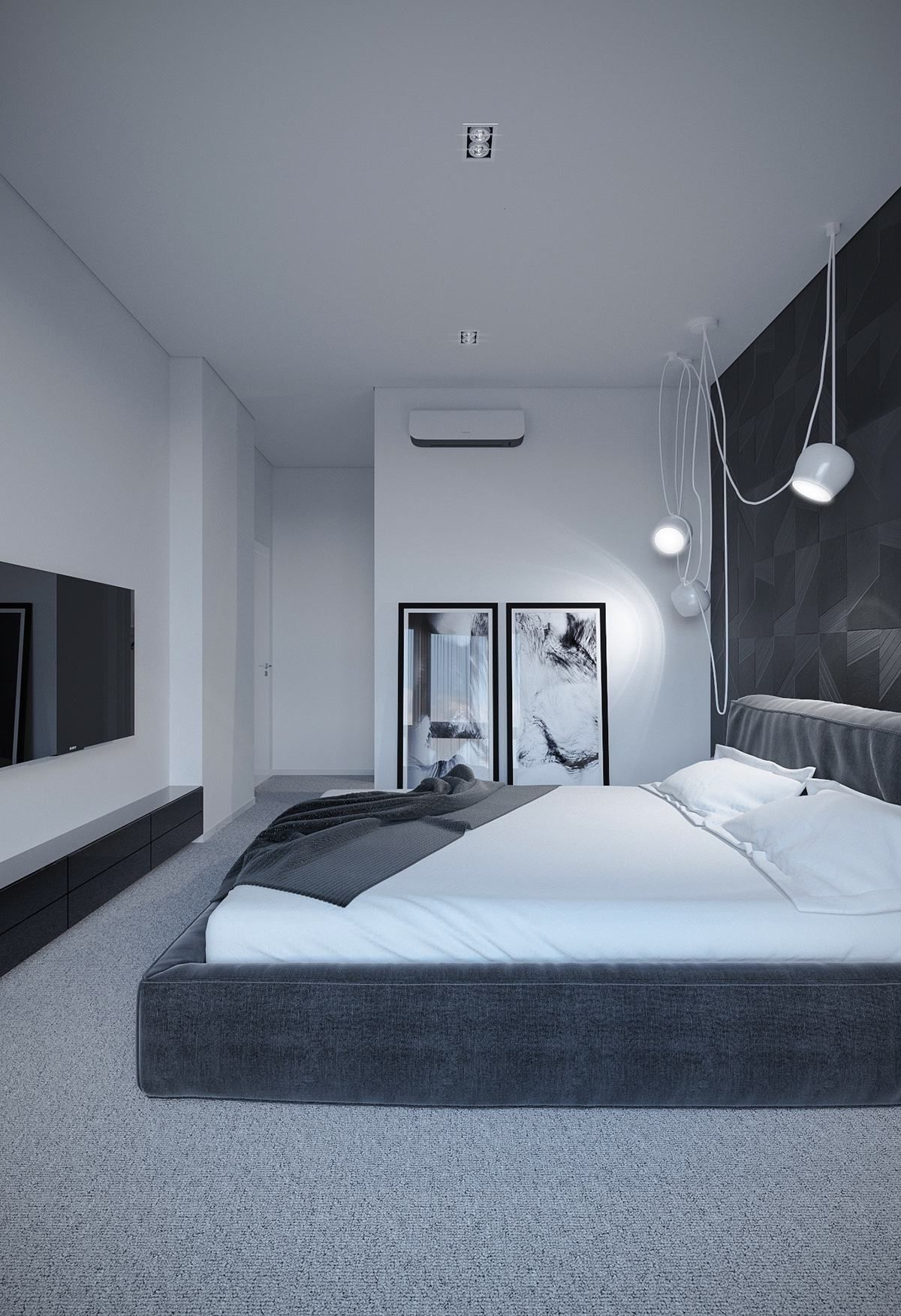 Photo of high-contrast-black-bedroom.jpg (1200 × 1752)