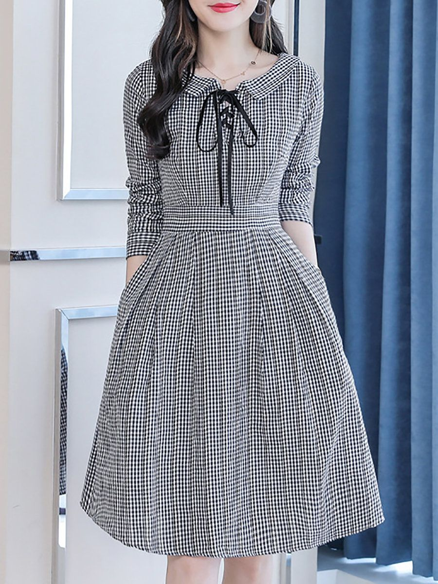 b277e75995f2e Stylewe Formal Dresses Long Sleeve Casual Dresses Daily A-Line Peter ...