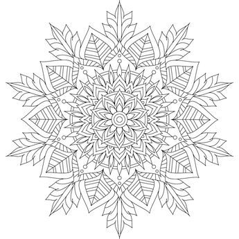 This Is Winter Soul One Of Over 100 Printable Mandalas For You To Color Https Mondaymanda Mandala Coloring Pages Snowflake Coloring Pages Coloring Pages