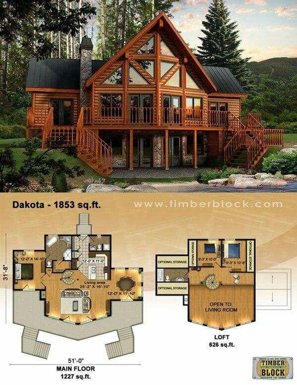 Love thus cabin Plans Maisons Pinterest Cabin, House and Logs