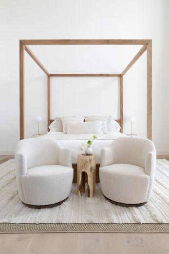 Margie Swivel Chair Luxurious Bedrooms Contemporary Bedroom Modern Master Bedroom
