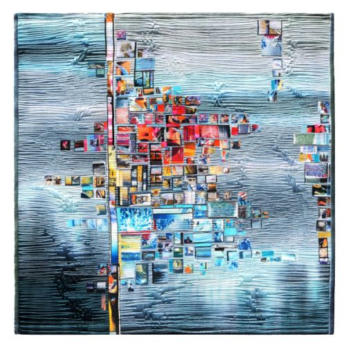 """createcreatively: """" Folder of my Metaphors by Ludmila Upenskaya, 2011 From Material Witnesses at The Art Quilt Gallery•NYC. Something about this quilt speaks to me. So beautiful. """""""