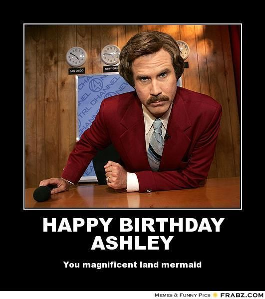 Quot Happy Birthday Ashley You Magnificent Land Mermaid Quot Funny Happy Birthday Meme Funny Happy Birthday Pictures Birthday Humor