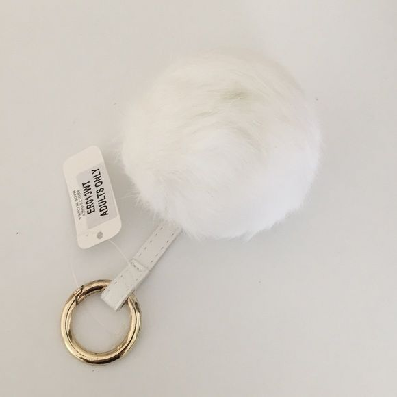 White key chain New with tag Accessories