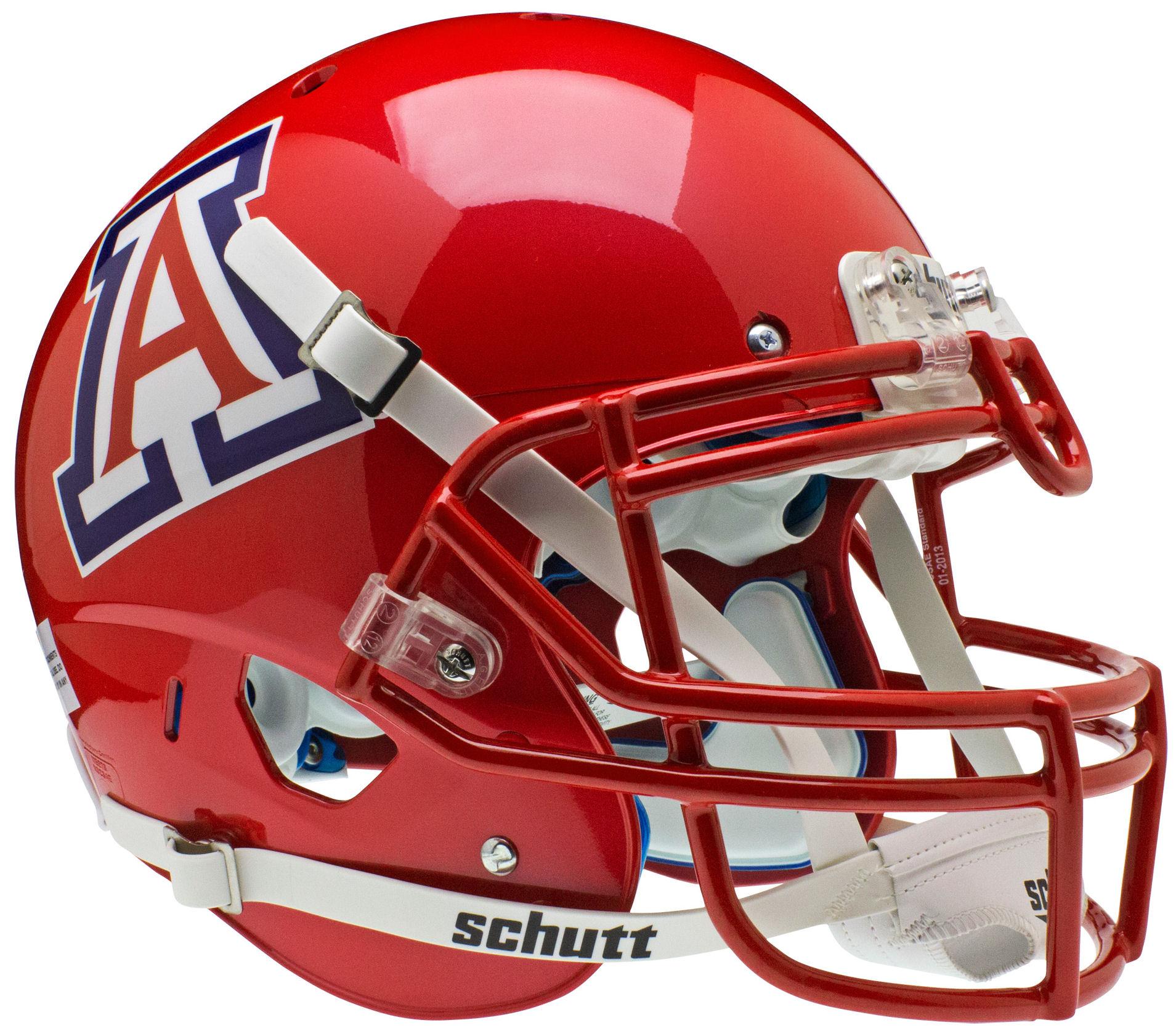 Arizona Wildcats Authentic College Xp Football Helmet Schutt Scarlet Football Helmets Wildcats Football Arizona Wildcats Football