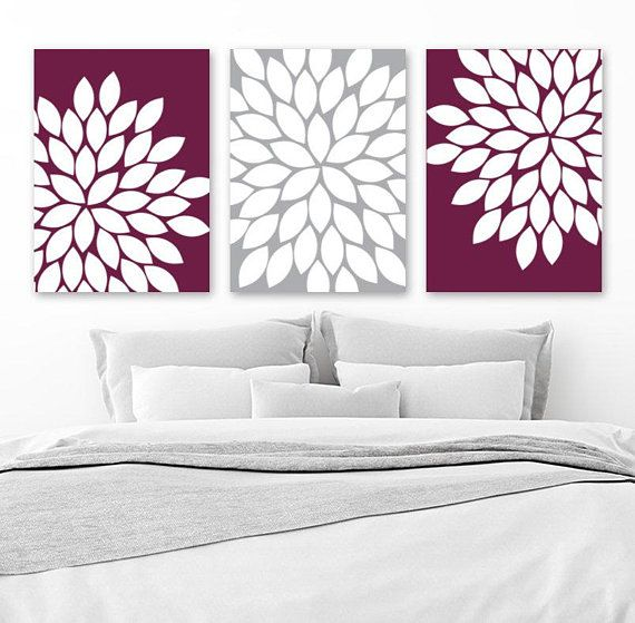 Flower Wall Art, Maroon Gray, Flower Bedroom Art, Maroon Kitchen Decor, Canvas or Prints, Bathroom Decor, Flower Petals, Set of 3 Wall Decor is part of bedroom Decoration Flowers - 204991604 The purchase of any item from TRM Design does not transfer rights to sell, copy, or distribute in any way  www trmdesign store Wall Art, Nursery Wall Art, Canvas, Canvas Wall Art, Nursery Prints, Nursery Canvas, Kids Room Decor, Children Room Decor, Playroom Wall Art, Baby Nursery Prints, Baby Nursery Decor, Kids Prints, Baby Girl, Baby Boy, Home Decor, Custom Artwork, Typography, Quote Prints, Office Wall Art, Kids Art, Kids Wall Art, Personalized Baby Gifts, Custom Home Decor, Kitchen Wall Art, Kitchen Canvas, Posters, Bathroom Decor, Bathroom Wall Art, Bathroom Canvas, Bedroom Decor, Bedroom Wall Art, Bedroom Canvas, Bathroom Canvas