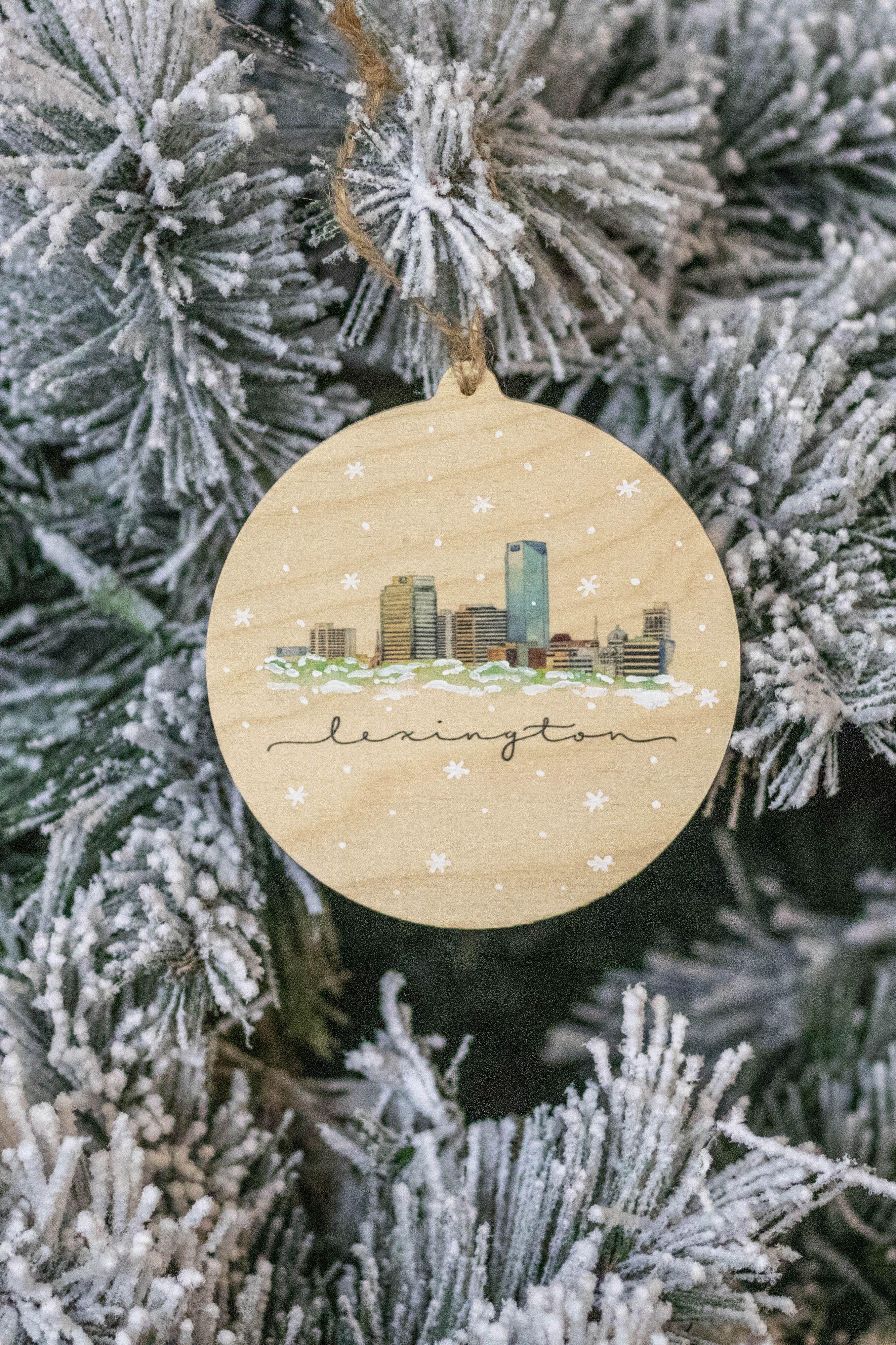 Stephaniehilenart Lexingtonky Sharethelex Kentuckychristmas Christmasdecor Christmasornament Wood Christmas Tree Ornaments Ornaments Christmas Ornaments