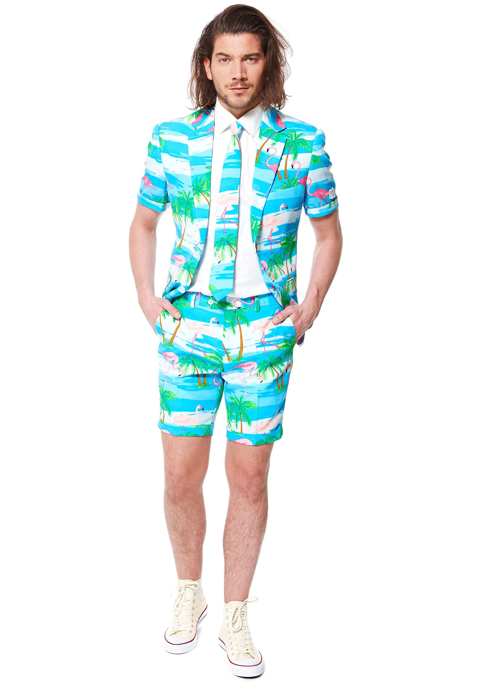 Costume d été Mr. Flamingo homme Opposuits™   Ce costume estival Flamingo de eca7c0483f7