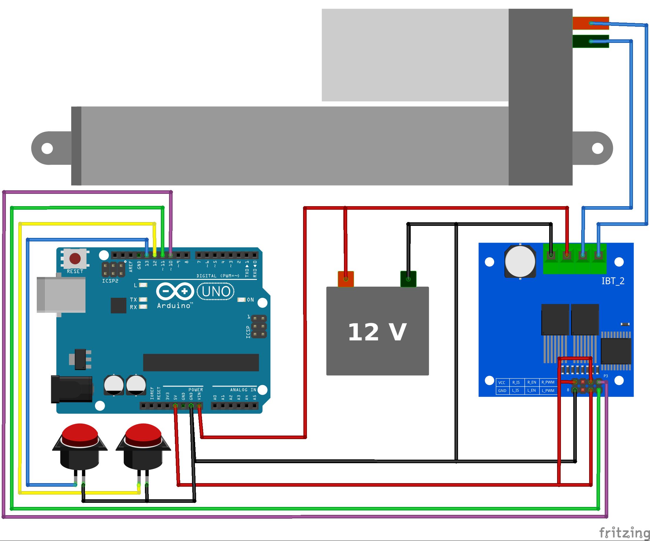 Push Button Control With Arduino Arduino Linear Actuator Control