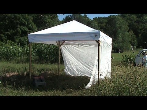 Build A Wooden Canopy Frame For Your Broken Metal Canopy Youtube