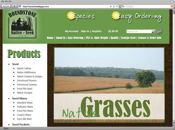 Roundstone Native Seed online store website