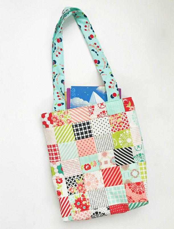 Kids Mini Charm Patchwork Library Bag | Bag | Pinterest | Costura ...