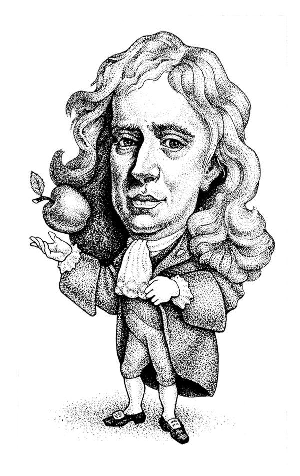 Isaac Newton Pinterest Em 2018 T Caricatura