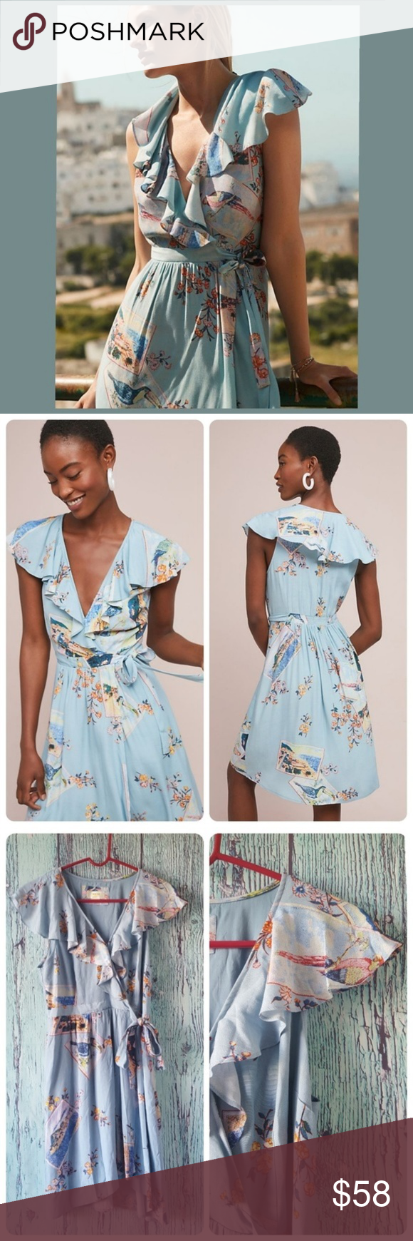 Anthropologie Rosalie Wrap Dress by Maeve Whether you finish with sandals  or a denim jacket and sneakers 2b1d7647c
