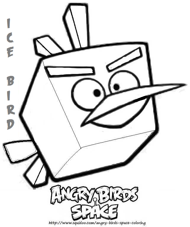 angrybirdcom print coloring pages angry bird coloring page ice