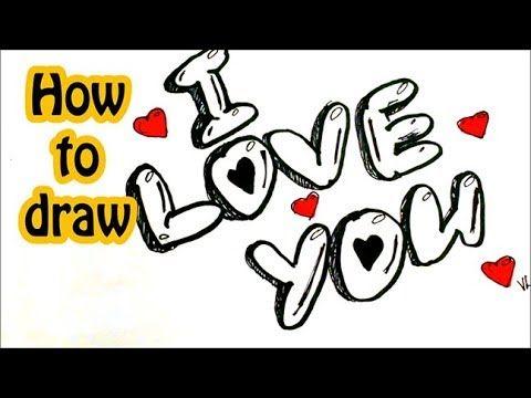 I Love You In Bubble Letters Graffiti Letters