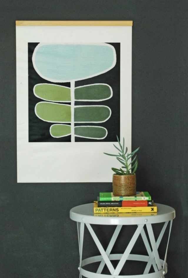 10 DIY Ways to Hang Really Large Art is part of home Art Apartment Therapy - My home has a few blank walls that I've been looking to fill in order to cozy up the space