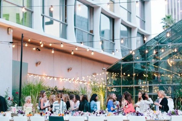 The Line Hotel Koreatown Los Angeles California United States Venue Report Outdoor Party Hotel Wedding Receptions Venues