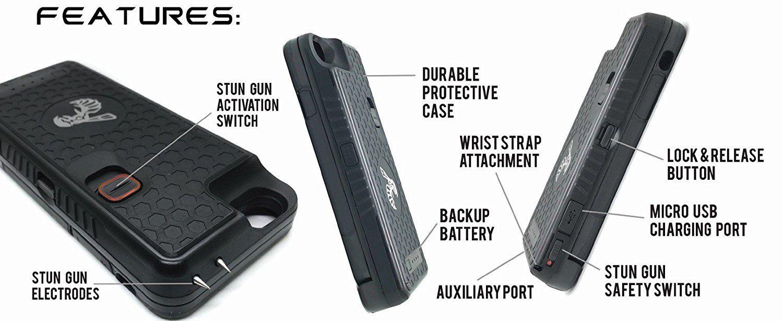 Pin on Yellow Jacket Stun Gun Backup Battery Phone Case