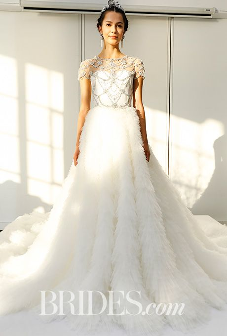 brides marchesa wedding dresses fall 2016 bridal runway shows bridescom