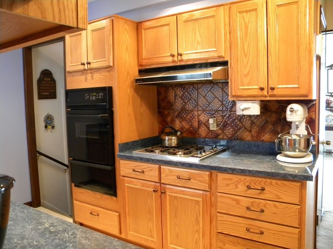 Oak Cabinet Hardware Ideas Kitchen Cabinets Kitchen