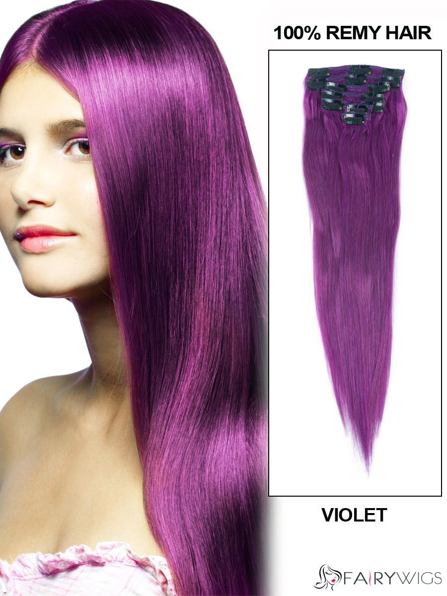 12 30 7 Piece Silky Straight Clip In Indian Remy Human Hair